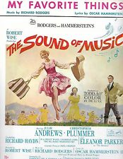 SOUND OF MUSIC Sheet Music MY FAVORITE THINGS Julie Andrews Christmas favorite