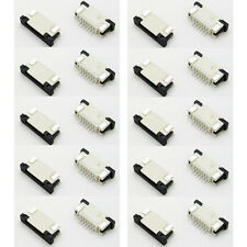 10 Pairs FFC/FPC Connector 6Pin Pitch 1.0mm Top Bottom Contact s745