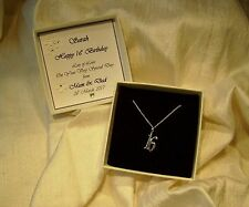 16th birthday gift  sterling silver pendant  Personalised box  jewellery
