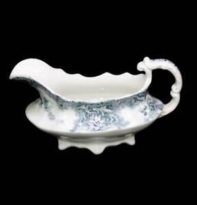 Antique 1900s Wedgwood Royal Semi Porcelain Elsie gravy boat jug