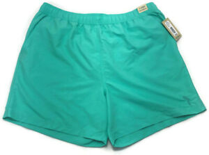 Caribbean Roundtree & Yorke Men's Aqua Blue Green Hawaiian Summer Shorts XL