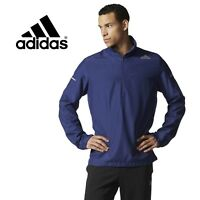 Adidas Mens Run Sequencial Anorak Navy Jacket ClimaProof Windbreaker - Free Post