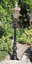 Utilizzati Ex-Display 1.83 M nero e rame ORNATA scanalata DA GIARDINO LAMPIONE Set
