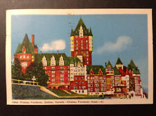 Hotel Chateau Frontenac Quebec Canada Hotel Vintage Postcard Posted 1953 Color