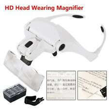 5 Lens Dentist Loupes Dental Magnifier Glass Surgical Binocular Head Led Medical