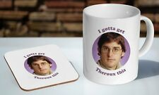 Louis Theroux Funny Tea - Coffee Ceramic Mug Coaster Gift Set