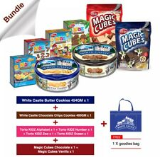 Ultimate Snacks Food Supply Bundle Combo Butter Cookies,Biscuits & Wafer cubes