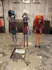 Monster High dolls bundle Toralei Stripe, Meowlody And Purrsephone