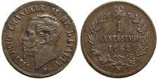 1 centesimo 1862 N, 2 ribattuto su 1 - R