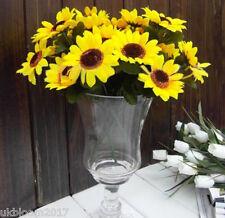 1 Bouquet 7 Heads Artificial 7CM Sunflowers Flower Floral Posy Home Garden Decor