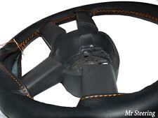 FITS 06-14 FIAT DUCATO VAN MK3 BLACK LEATHER STEERING WHEEL COVER ORANGE STITCH