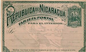 Nicaragua Internal PS Card 2 centavos unused cover