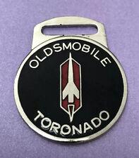 Vintage 1970's OLDSMOBILE TORONADO Enamel Car Advertising Watch / Keychain Fob