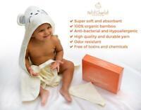 BABY HOODED TOWEL BAMBOO - TODDLER HOODED BATH TOWEL | ORGANIC BAMBOO BABY TOWEL