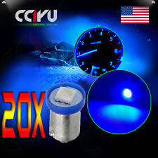 20Pcs BA9S Blue 1-5050-SMD LED Dashboard Gauge Instrument Indicator Light Bulb