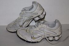 Nike Shox Conundrum + Running Shoes, #327031-111, White/Silver, Womens US 6