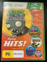 POPCAP HITS VOL 2 XBOX 360 ORIGINAL AUS PAL No Manual - 4 COMPLETE GAMES RARE