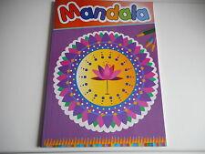 LIVRE DE COLORIAGE ADULTE MANDALA POUR DES HEURES DE DETENTE 48 PAGES 96 DESSINS
