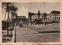 CARTOLINA DI ROMA - VIA DEI TRIONFI E COLOSSEO - 1948 VG