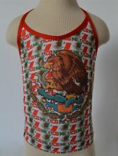 Baby Girls' NEW Vintage Mexico Design 80% Polyester & 20% Spandex Halter Top XS