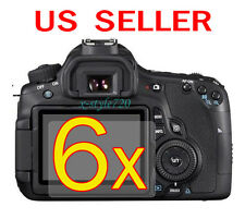 6x Canon EOS 60D Clear LCD Screen Protector Guard Shield Film