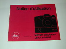 notice du MOTOR-WINDER R3 pour Leica R3-mot photo photographie