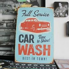 """Metal Tin Sign """"Car Wash"""" Vintage Old time Style BAR CAFE SHOP Home Wall Decor"""
