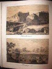 HERCULANEUM AND POMPEII RARE view colour period 1829 CAMPANIA