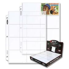 1 Case 500 BCW PRO 8-POCKET PAGE Binder Sheets-Vintage Collectible Sports Cards