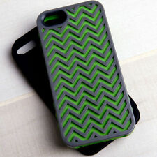Tech Candy Herringbone Case Set (iPhone 5/5S) in Earth Green/Black Night