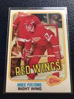 VINTAGE  1981-82 Topps #87  MIKE FOLIGNO Red Wings  NRMT w/Top Loader