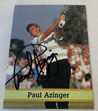hand signed autographed PGA card ~ PAUL AZINGER