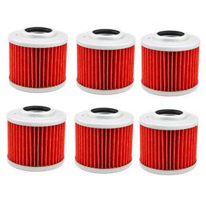 6X Oil Filters For BMW G650 G650GS F650GS F650CS F650ST APRILIA PEGASO MOTO 650