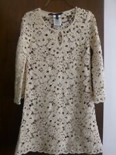 BCBG MaxAzria cream beige sweater tunic dress Tianya  XXS fits like small