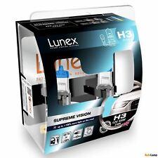 2x H3 SUPREME VISION Lunex 3700K 12V Bombillas Halógenas Faros Hard Case