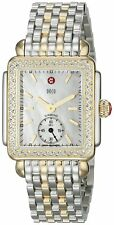 NEW Michele Deco 16 Mid Diamond MOP Dial Two Tone Gold MWW06V000023 Ladies Watch