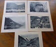 Lot86g 5x Paysages Suisses SWISS LANDSCAPES Interlaken LUZERN Gersau LARGE CARDS