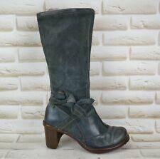 EL NATURALISTA Womens Grey Leather Knee High Long Heeled Boots Size 5 UK 38 EU