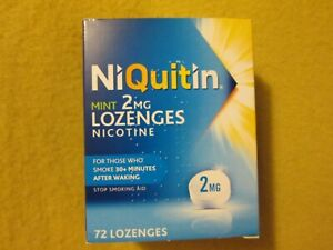 5 Packs OF 72 MINT Lozenges NiQUITIN 2mg DATES 2 x 11/21 AND 3 x 12/20 (ref beu2