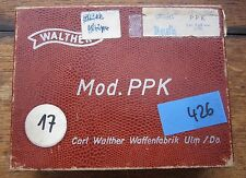 Vintage Walther PPK Alligator Box - 7.65 Cal , good condition