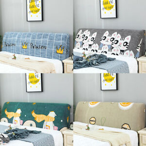 Cute Headboard Cover Stretchy Bed Head Slipcover Protector Covers Home Elastic