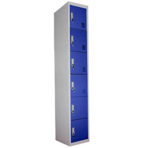 Metal Storage Lockers Dark Blue Steel Lockable Unit Staff Gym School Changing