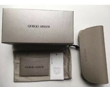 Giorgio Armani  EYEGLASS/SUNGLASS CASE BOX CLEANING CLOTH Beige AUTHENTIC NEW