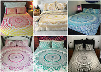 Indian Flat Sheet Mandala Cotton Bedspreads Bohemian Queen Tapestry Bed Cover