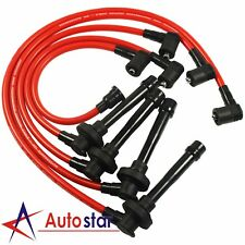 JDMSPEED Red 10.5mm Spark Plug Wire Set For Honda Accord 1998-2002 DX EX LX 2.3L