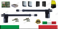 KIT FULL CANCELLO BATTENTE 2 ANTE AUTOMATISMO APRICANCELLO MOTORE 230V GENIUS V2