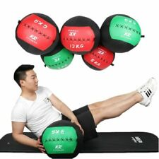 35cm Leather Gym Ball Snatch Wall Balls Heavy Duty Exercise Strength Fitness