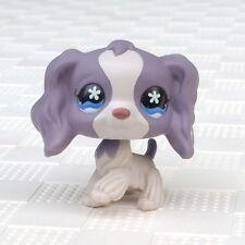 Littlest Pet Shop LPS #672 Purple Cocker SPANIEL Blue Star Eyes Flower Ear Puppy