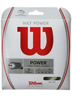 WILSON NXT POWER TENNIS STRING - 1.30MM 16G - ONE 12M SET - NATURAL - RRP £29