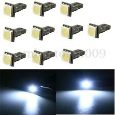 10x White T5 5050 286 1 SMD LED Dashboard Gauge Wedge Bulbs Light Non Canbus 12V